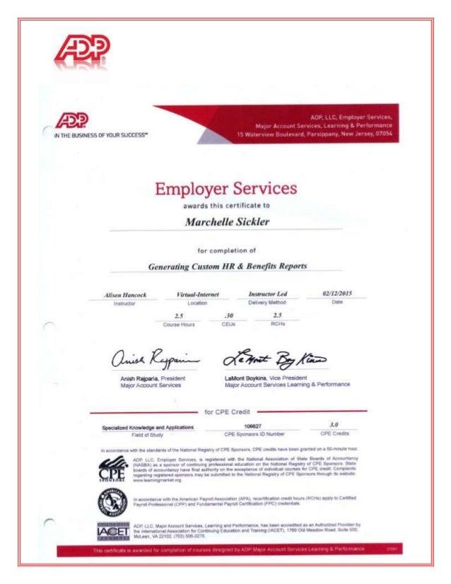 ADP Courses & Certificates