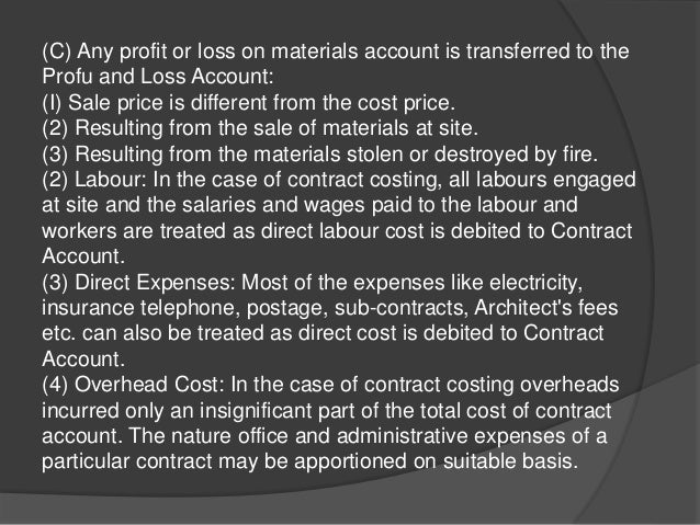 management accounting contract costing Cost accounting vs management accounting (in 2018) top 14 job and contract costing question answer (cost accounting) top 13 process costing question & answer (cost accounting).