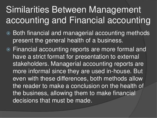 Difference Between Financial Accounting and Management Accounting