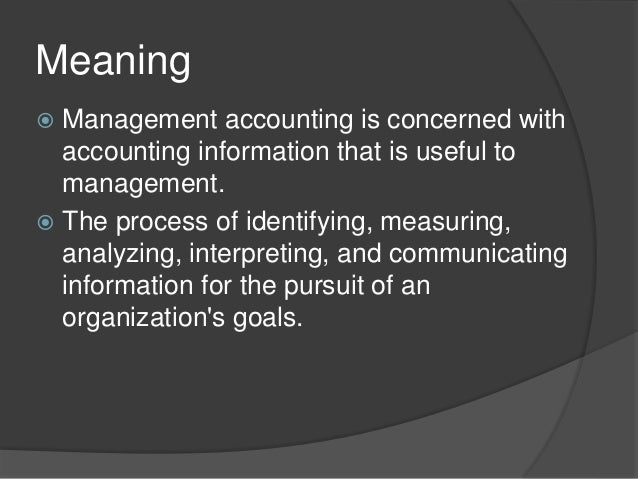 Accounting For Managers Interpreting Accounting Information