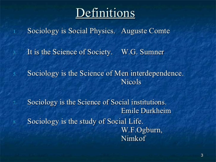 an introduction to the formal definition of sociology A summary of the birth of sociology in 's introduction to sociology learn exactly what happened in this chapter definition of sociology + introduction to sociology.