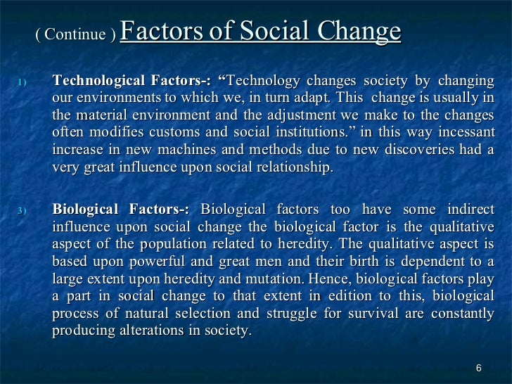 social changes due to technology