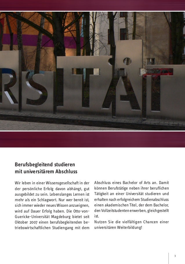 Berufsbegleitender BBA Universität Magdeburg Slide 3