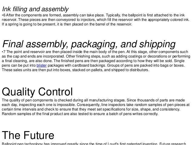 Ball & gel pen manufacturing