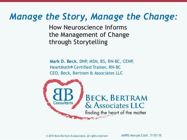 © 2015 Beck Bertram & Associates, all rights reserved ANPD Annual Conf. 7/15/15 Mark D. Beck, DNP, MSN, BS, RN-BC, CENP, H...