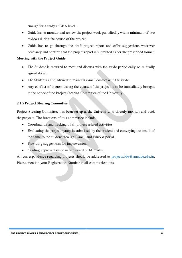 bba project guidelines Smu mba project 2017 guidelines free synopsis download  project guidelines for smu final semester mba/mca/msc it students  bba synopsis and project (4) bca.