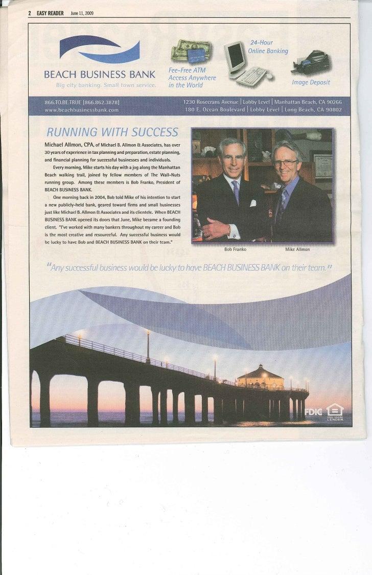 Beach Business Bank Advertisement