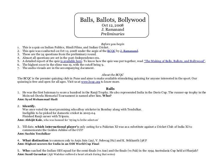 Balls, Ballots, Bollywood                                                              Oct 12, 2008                       ...