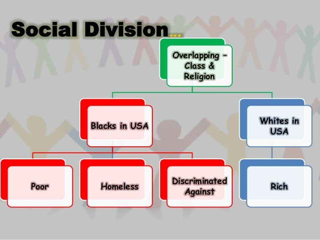 the different divisions and classifications within the african american race Social class refers to a group of people with similar levels of wealth,  race and ethnicity  african americans.