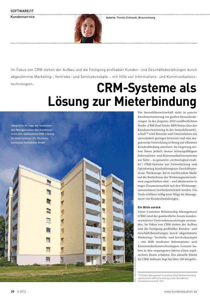 SOFTWARE/ITKundenservice                                       Autorin: Thordis Eckhardt, BraunschweigIm Fokus von CRM ...