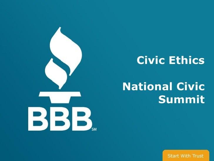 Civic Ethics  National Civic       Summit