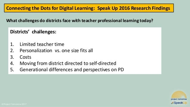 Connecting The Dots For Digital Learning: Listening To The