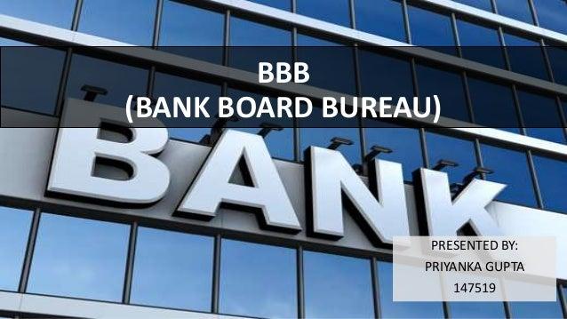 Bank board bureau ppt