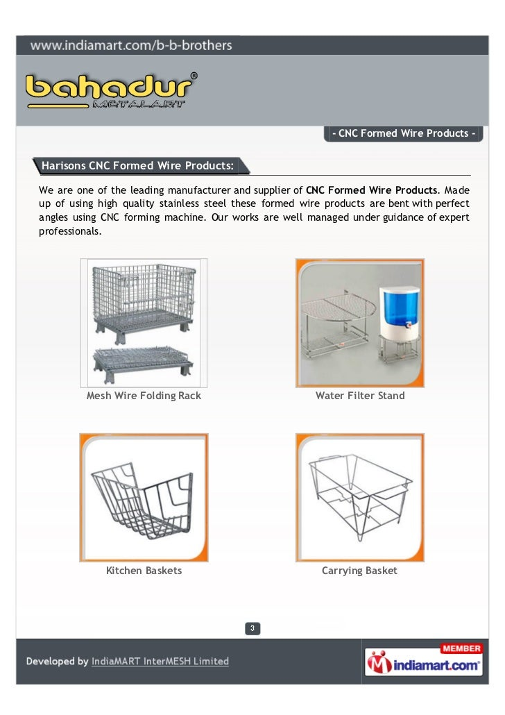 B b brothers ludhiana cnc formed wire products for Kitchen 95 ludhiana