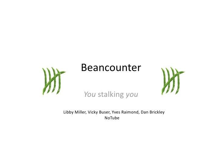 Beancounter            Youstalkingyou  LibbyMiller,VickyBuser,YvesRaimond,DanBrickley                  ...