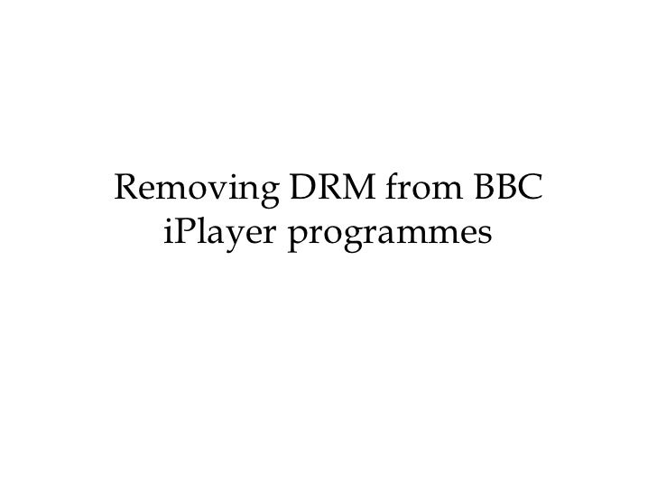 Keep downloaded BBC iPlayer TV shows Permanently