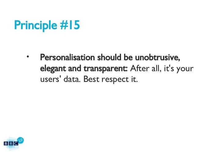 BBC2.0: The BBC's 15 Web Principles Slide 45