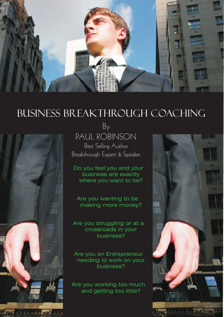 Business Breakthrough Coaching