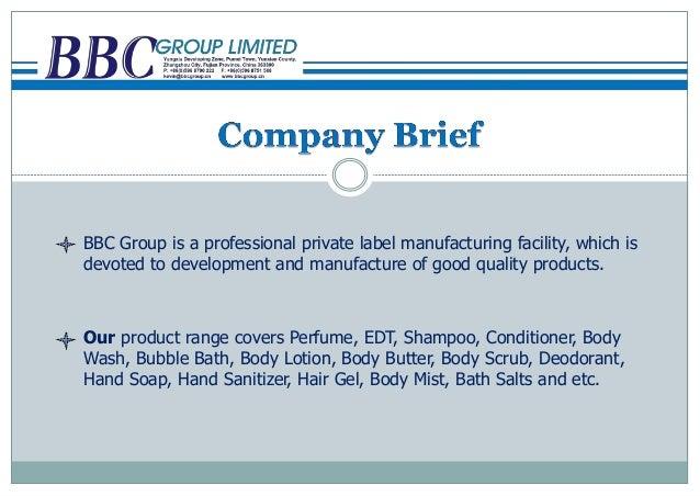 BBC factory profile ---Toiletries and cosmetics private