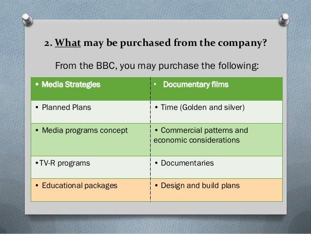 BBC marketing strategy plan