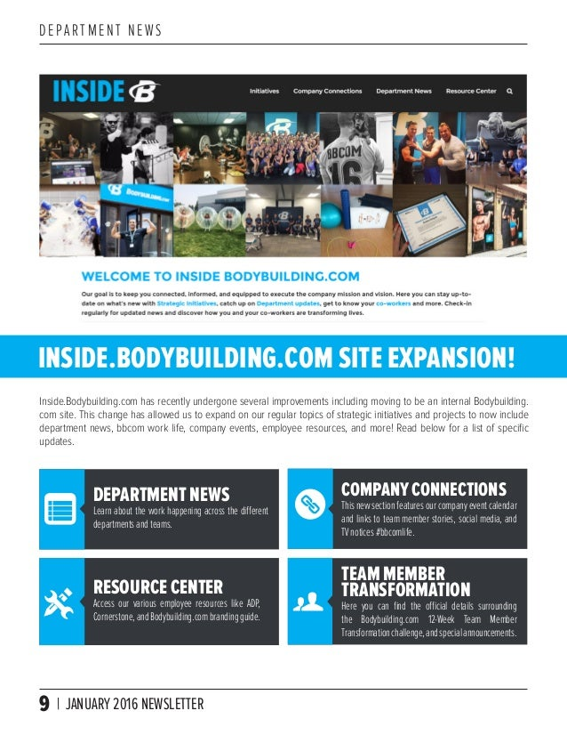bodybuilding com company newsletter