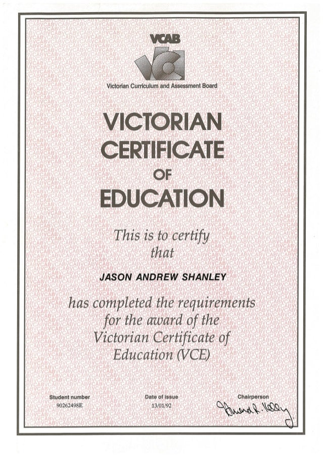 VCE Certificate.PDF