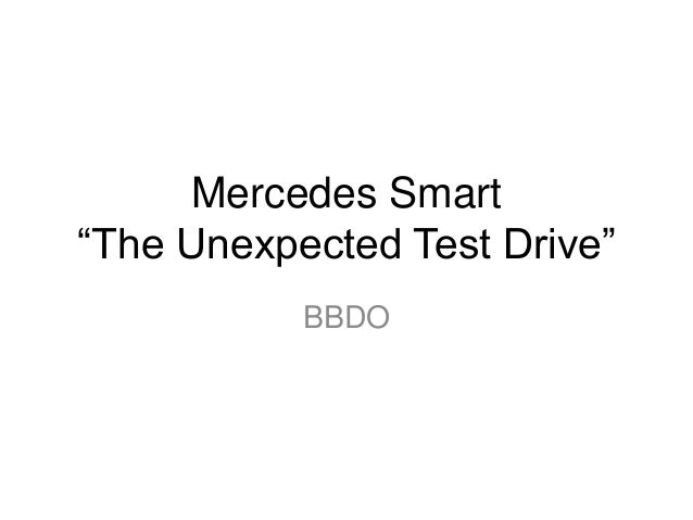 """Mercedes Smart """"The Unexpected Test Drive"""" BBDO"""