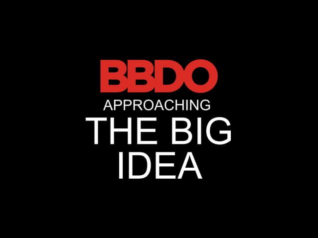 APPROACHINGTHE BIG IDEA