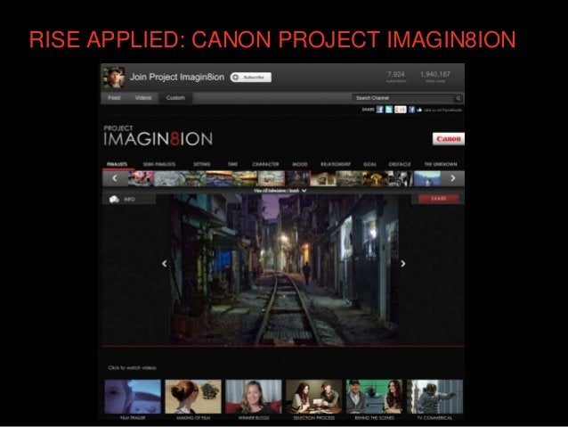 RISE APPLIED: CANON PROJECT IMAGIN8ION