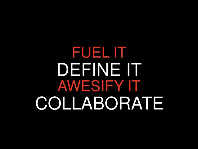 FUEL IT DEFINE IT AWESIFY ITCOLLABORATE