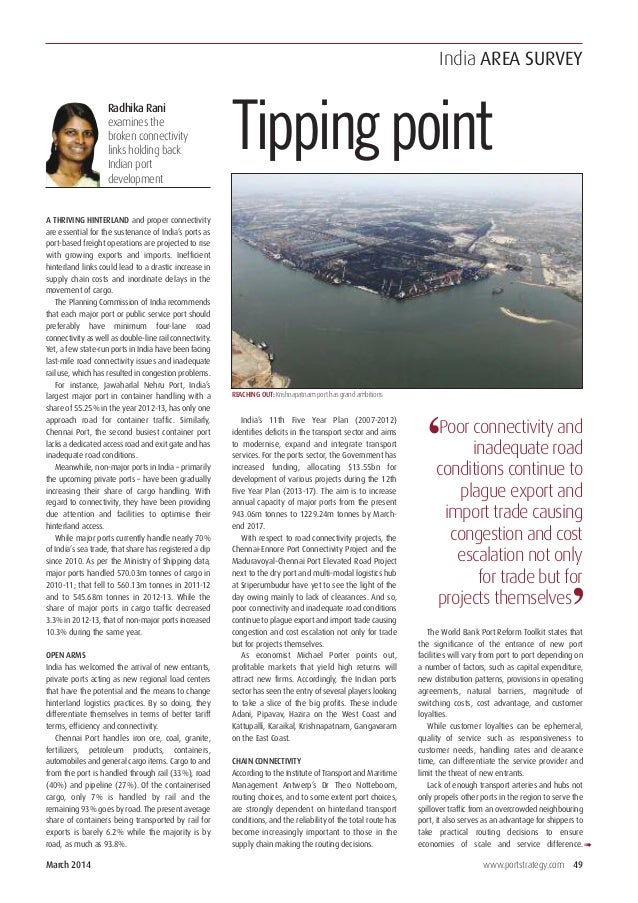 Article in Port Strategy
