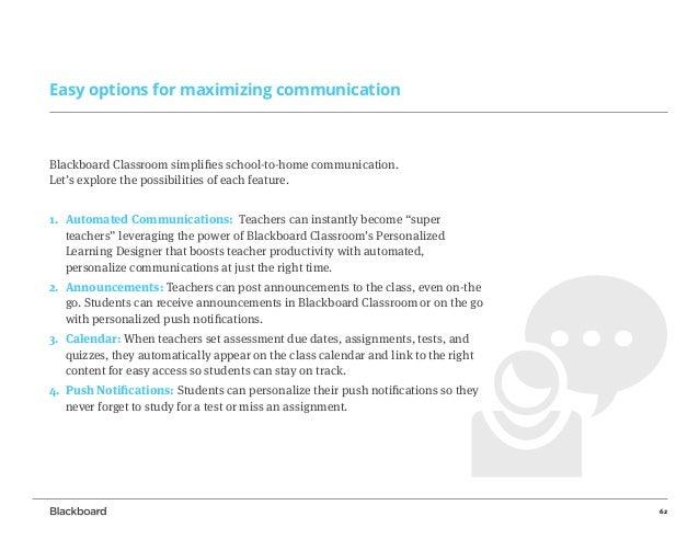 ... 62. 62 Easy Options For Maximizing Communication Blackboard ...