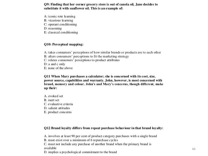 Bb Exam Revision And Specimen Questions (April 2011)