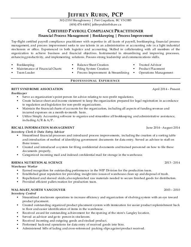resume headers