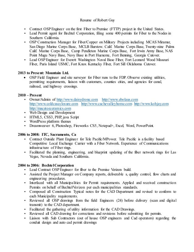 Robert Guy Resume 2015