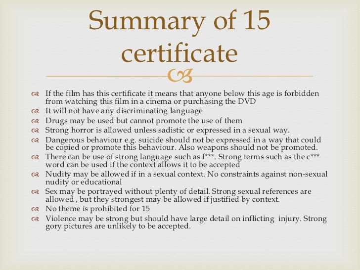 BBFC guidelines research Slide 2