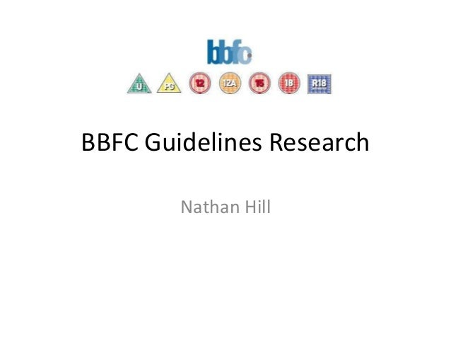 BBFC Guidelines Research Nathan Hill