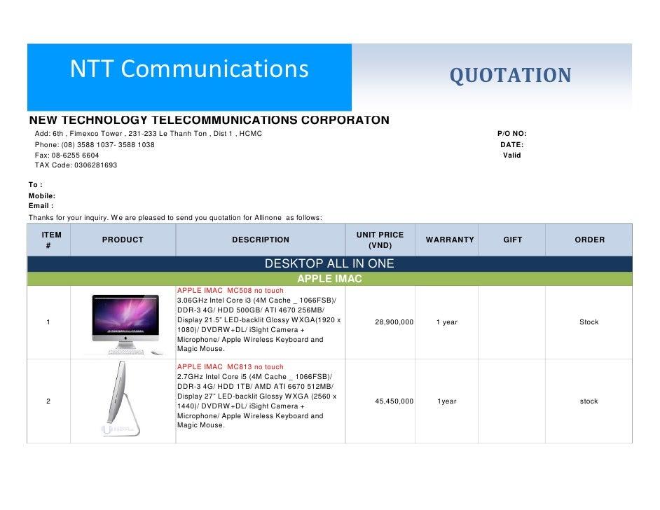 NTT Communications                                                                                QUOTATIONNEW TECHNOLOGY ...