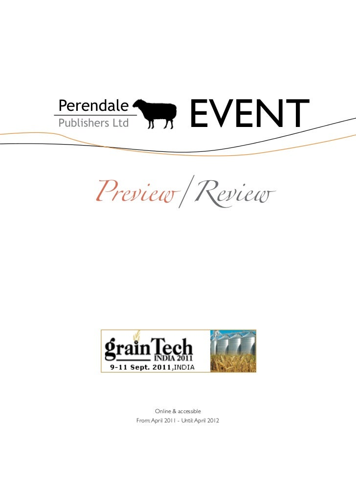 EVENTPreview/Review          Online & accessible   From: April 2011 - Until: April 2012