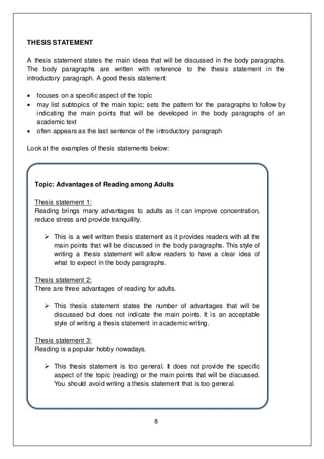 paragraph development examples