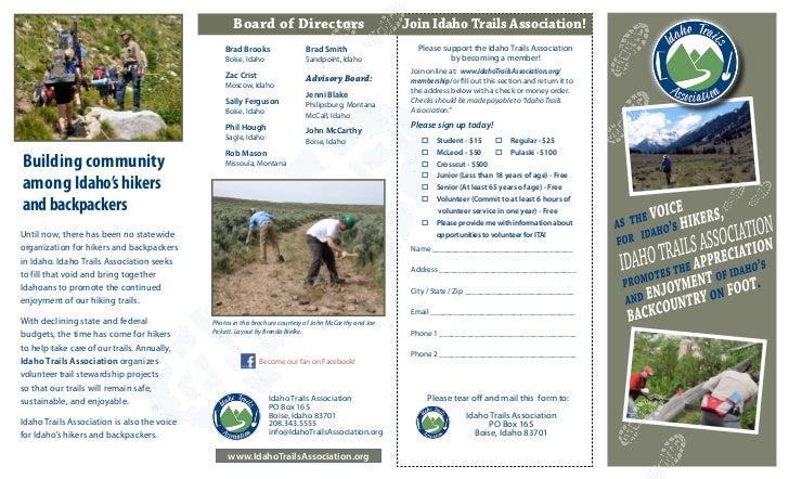 Board of Directors                                   Join Idaho Trails Association!                                       ...