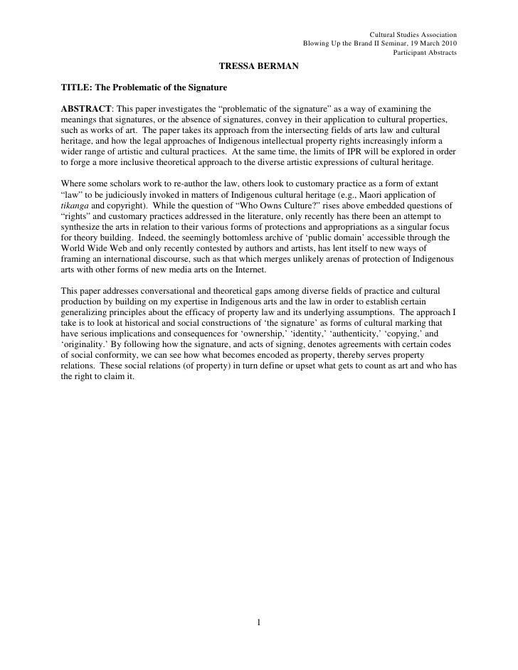 Cultural Studies Association                                                                   Blowing Up the Brand II Sem...