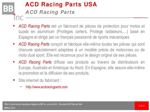 ©BBInc 2014  ACD Racing Parts est un fabricant de pièces de protection pour motos et quads en aluminium (Protèges carters...