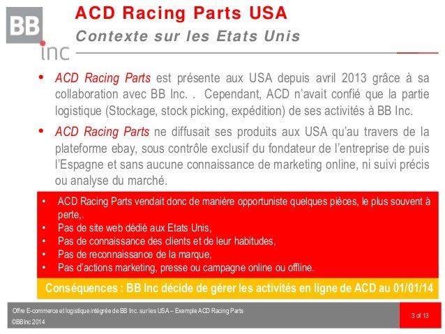 ©BBInc 2014  ACD Racing Parts est présente aux USA depuis avril 2013 grâce à sa collaboration avec BB Inc. . Cependant, A...