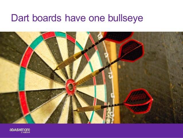 Dart boards have one bullseye