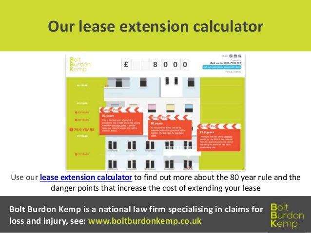 Lease extension calculator professional advice london & surrey.