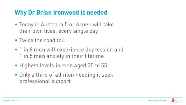 Dating a man with depression in Australia
