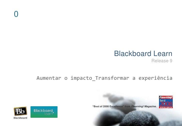 Blackboard Learn 9.0 - Descrição Funcional  Blackboard Lear...