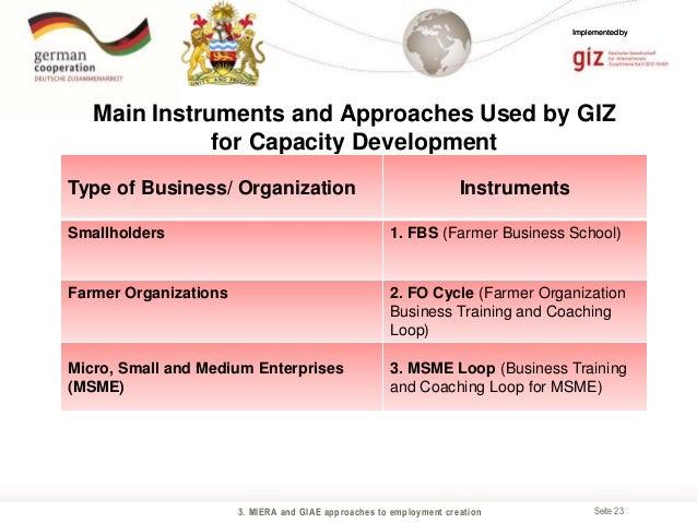 Employment creation through Private Sector Development GIZ