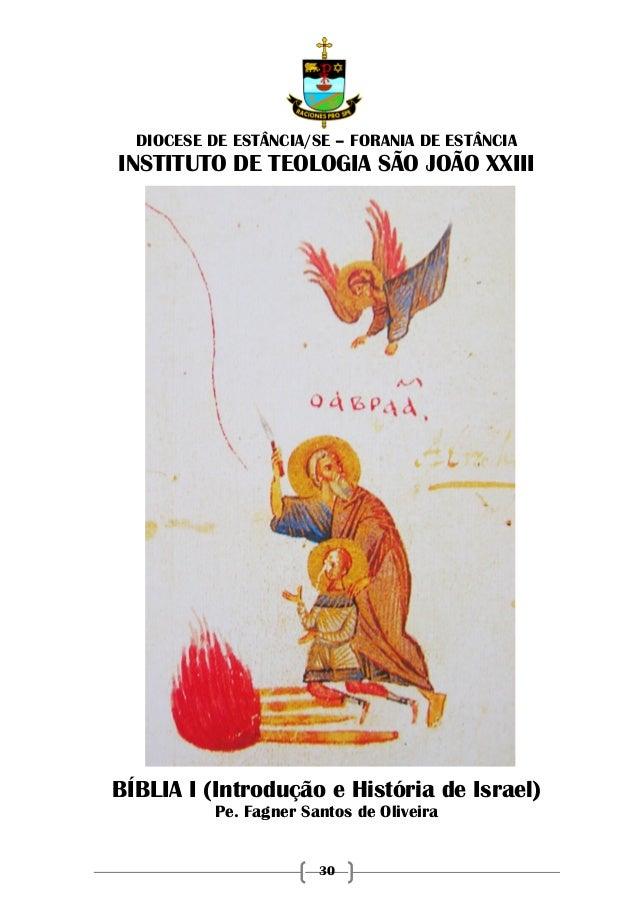 30 DIOCESE DE ESTÂNCIA/SE – FORANIA DE ESTÂNCIA INSTITUTO DE TEOLOGIA SÃO JOÃO XXIII BÍBLIA I (Introdução e História de Is...
